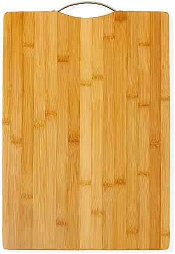 AKOZLIN 天然竹製 まな板 抗菌 立て型 竹まな板 調理用まな板 軽量な環境に優しい 竹 の カッティングボード 使い分け フック付 肉野菜果物 調理・製菓道具 幅32×奥行22×高さ1.8cm