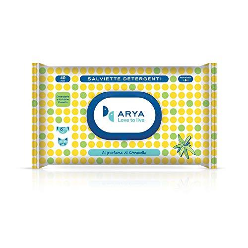 Arya Toallitas limpiadoras de citronela, 40 unidades