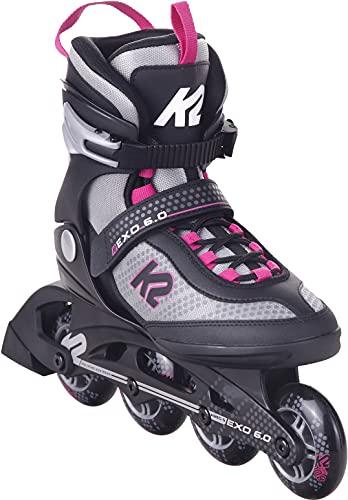 K2 Damen Inliner Exo 6.0, Farbe grau / rosa (EU39/250mm)
