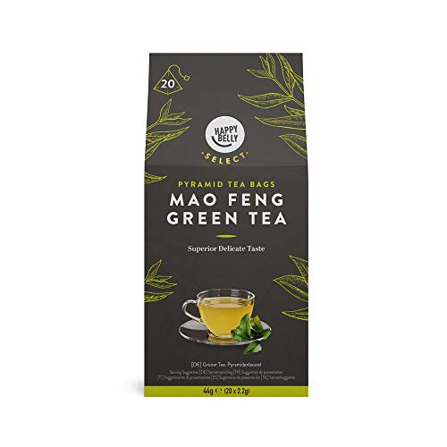 Amazon Brand - Happy Belly Select Green Tea Teabags Mao Feng 6x20 pyramides