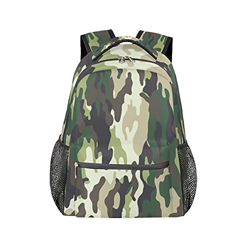 Zaino mimetico militare con texture personalizzata, per il tempo libero, per ragazzi e ragazze, zaino per computer portatile, per escursioni, campeggio, scuola, zaino impermeabile
