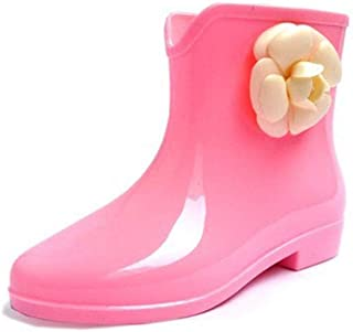 MEIGUIshop Rain Boots - Flower-Type Non-Slip wear-Resistant Waterproof Tube rain Boots