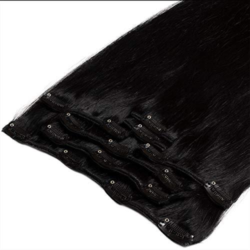 Just Beautiful Hair Extensions capillaires lisses à clipser Noir 50 cm
