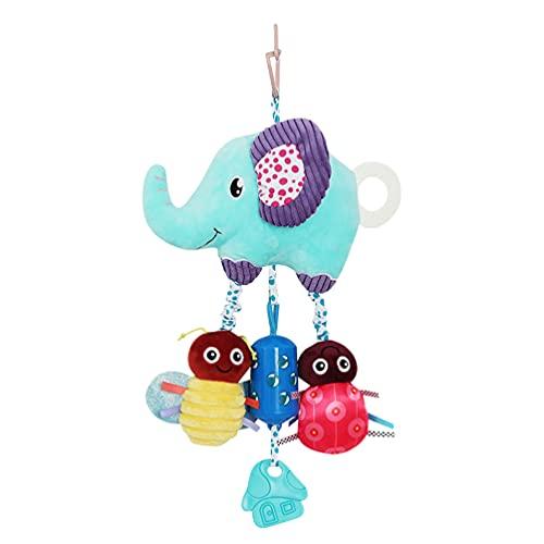 TOYANDONA Sonajeros Colgantes para Bebé Juguetes de Dibujos Animados de Animales de Peluche Sonajero Juguetes Azul Cama de Bebé Asiento de Coche Cochecito de Viaje de Peluche de