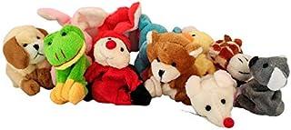 Vital Creations Soft Fur Fabric Cute Animal Fridge Magnets Plus Toy for Kids - Multicolour,Set of 6 (Colour as per Availab...