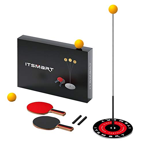 Best Review Of TOYANDONA Table Tennis Trainer Elastic Shaft Portable Table Tennis Set Ping Pong Ball...