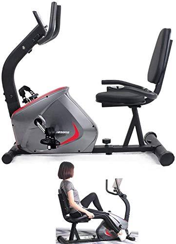 Qinmo Heimtrainer, Haushalt Fahrrad mit Elektronisches Gerät Tablet Ständern Indoor Sport Bike Horizontal Fitness Lower Limb Ausbildung Fitnessgeräte