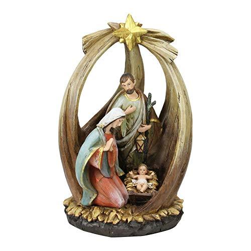 "12"" Holy Family with Star of Bethlehem Christmas Nativity"