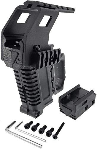 Airsoft magic 17B Pistol Carbine Kit Magazine Combat Kit Glock Mount with Rail Panel - Black