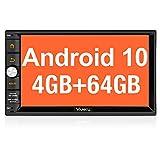 "Vanku - Android 10 Radio 2 DIN con PX6, 4GB+64GB, Autoradio con Qualcomm BT 5.0, GPS, Soporte Control Volante, WiFi, USB, SD, Mirror-Link, 4G, con 7"" Pantalla Táctil"