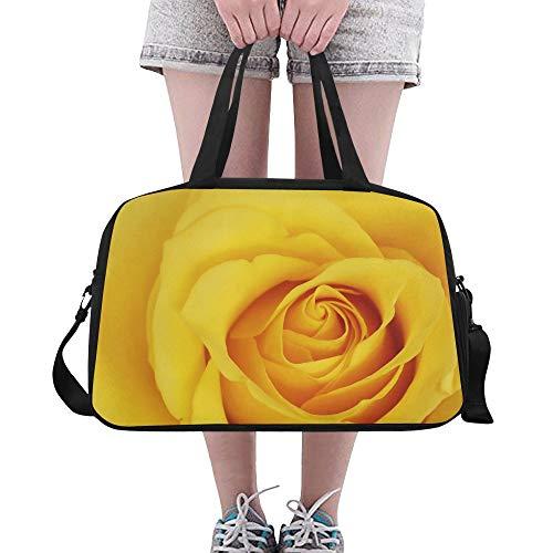 Bright Yellow Rose Banquete Grandes Yoga Gimnasios Totes Bolsos de viaje Bolsas...