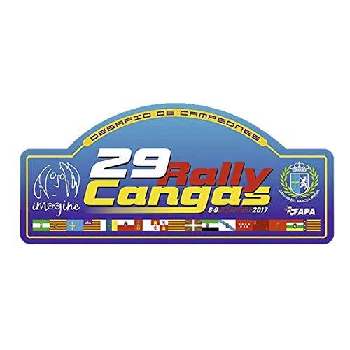 Pegatina Placa Rallye CANGAS del NARCEA 2017 PR137
