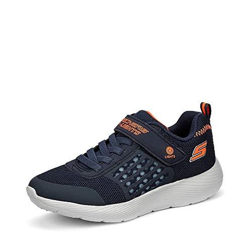 Skechers Jungen Dyna-lights Sneaker, Blau (Navy Mesh/Orange Trim Nvor), 27 EU
