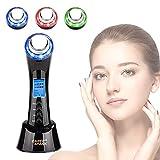 Facial Aparato Radiofrecuencia 5 en 1 Masajeador Ultrasonido Rejuvenecimiento de Piel Terapia de luz LED Dispositivo de Belleza Para Cuidado Facial Anti-acné Antiarrugas Anti-envejecimiento