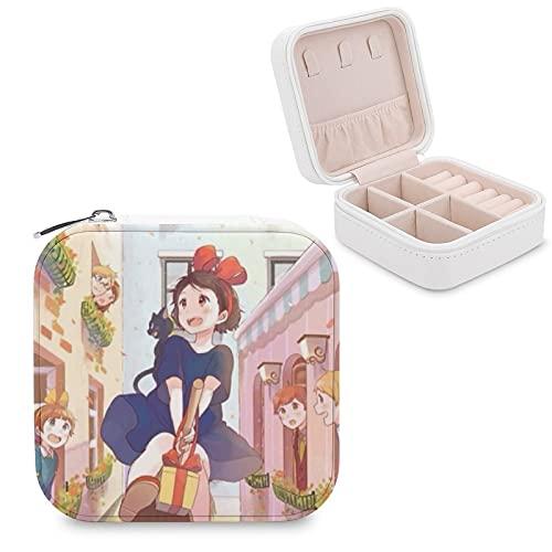 Kiki's Delivery Service Joyero de piel sintética de viaje portátil, para collar, pendientes, pulseras, anillos, relojes, caja de almacenamiento para mujeres