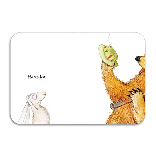 ABCap Bear Hare Go Fishing Welcome Doormat - Perfect Color/Sizing for Outdoor/Indoor uses 20 X 32 in