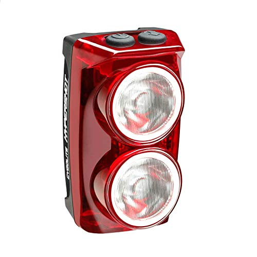 Cygolite Hypershot – 250 Lumen Bike Tail Light– 7 Night & Daytime Modes–User Adjustable Flash Speeds- Compact & Durable–IP64 Water Resistant–Secured Hard Mount–USB Rechargeable–Great for Busy Streets