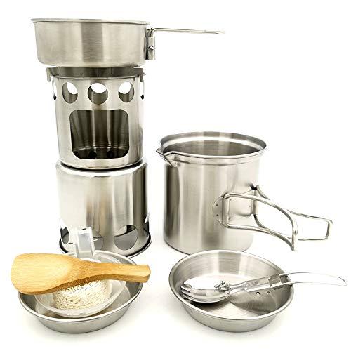 YA&NG Mochila De Camping Utensilios De Cocina Kit, Menaje De Cocina De...