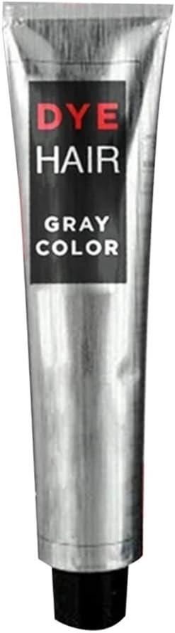 Crema de Tinte de Pelo Plateado Permanente Moda Coloración Rápida DIY Gel de Tinte de Pelo de Larga Duración 100ml