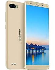 Ulefone S1 Mobiele Telefoons - Dual Sim-Telefoon Ontgrendeld Android 8.1 Go 5,5 Inch Scherm Quad-Core 1GB+8GB 8MP+5MP Dubbele Camera's Achteraan 3000 mAh Batterij Gezichtsherkenning (Goud)