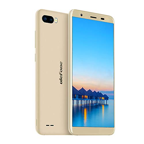 Ulefone S1 Günstige Handy ohne Vertrag 5.5 Zoll Smartphone 8MP+5MP+5MP Kameras 8GB Speicher Android 8.1 Dual SIM Handy Face ID - Gold