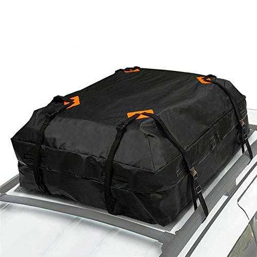 WPFC Impermeable del Coche De Carga del Techo Bolsa De La Azotea Al Portaequipajes, Viajes Negro De Almacenamiento A Prueba De Agua SUV Van para Autos, 112X87x44cm
