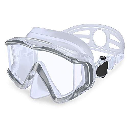 For mujer for hombre gafas de moda for adultos anti-vaho gafas de buceo Gafas de natación Tres espejo de la ventana de silicona líquida de buceo gafas de buceo for la conducción (Color: Negro, tamaño: