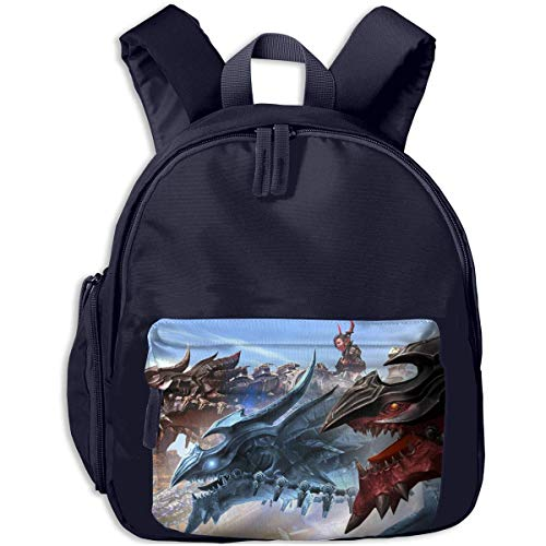 Hdadwy Mini Kids Kindergarten Backpack Armor Dragon Printed Bags for Child