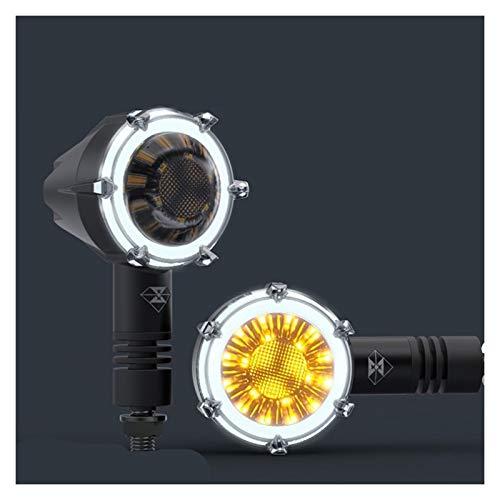 Señal de Giro de Motocicleta Luces de señal de Giro de la Motocicleta Lámpara Decorativa a Prueba de Agua modificada Lámparas LED LED Luces de Funcionamiento diurnas 12V 2PC (Color : White Light)