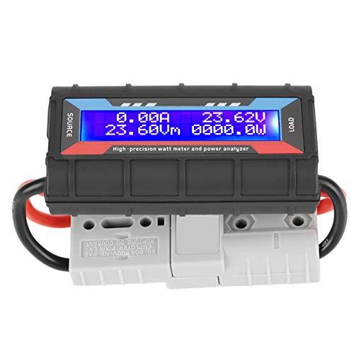 4,8 V ~ 60 V Hohe Präzision Watt Meter Spannung Amp Meter Power Analyzer Checker Analyzer Leistungsüberwachung mit LCD Bildschirm für RC, batterie, Solar, Wind Power(130A)