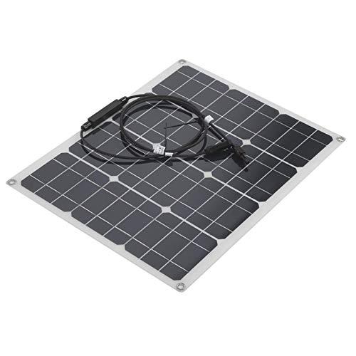 FOLOSAFENAR Panel Solar monocristalino Salida USB del Panel Solar para Uso en automóviles/Camiones/caravanas/Barcos con Gran practicidad