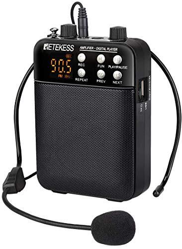 Retekess TR619 Spraakversterker Draagbare Persoonlijke Spraakversterker met Multifunctionele PA Speaker 1500mAh…