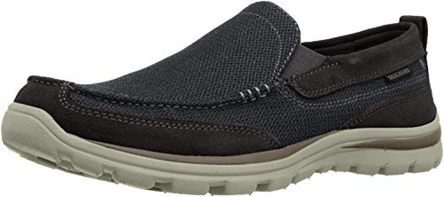 Skechers Men's Superior Milford Slip-On Loafer, Black, 9.5 D US