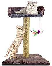 Zubita Rascadores para Gatos, Árbol para Gatos Arañazo Gatos Juguetes de Sisal Natural, Cat Toy Centro de Actividad para Gatitos con Peluche