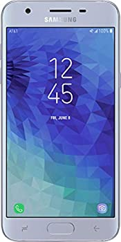 SAMSUNG Galaxy J3 2018  16GB  J337A - 5.0in HD Display Android 8.0 4G LTE AT&T Unlocked GSM Smartphone  Blue/Silver   Renewed