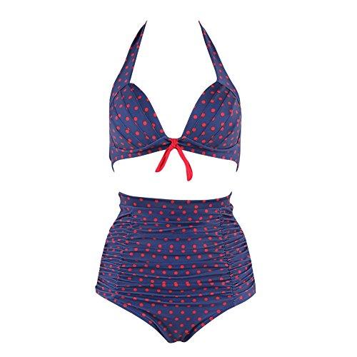 FeelinGirl Vintage Retro de 50 Años Talle Alto Bikini Traje de Baño