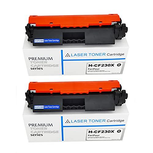 AZXZ 30x CF230X Adecuado para HP M227FDW / FDN M227SDN / D M203D / DN M203DW Cartucho de tóner 2-Black