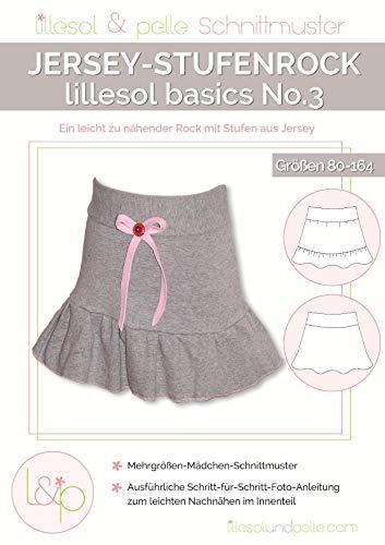 Lillesol & Pelle Schnittmuster basics No3 Stufenrock Papierschnittmuster