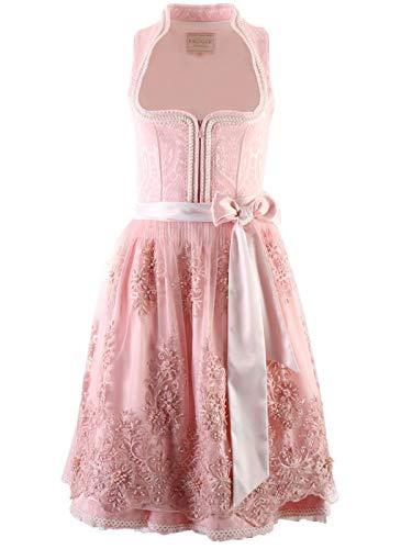 Dirndl Rosé glow 60er Länge Krüger essential collection designed by Victoria Swarovski (rosa 60er Länge, 40)