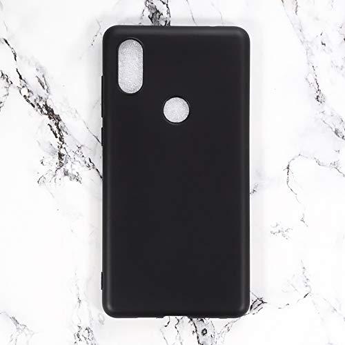 Capa Xiaomi Mi Mix 2S, capa traseira de TPU macia resistente a arranhões à prova de choque, gel de borracha de silicone anti-impressões digitais Capa protetora de corpo inteiro para Xiaomi Mi Mix 2S (preta)