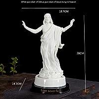 イエス昇天像装飾カトリックイエス像セラミックアイコンジュエリークリスチャンギフト