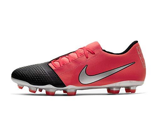 Nike Phantom Venom Club Firm Ground Soccer Cleats (Laser Crimson/Metallic Silver, Numeric_8)