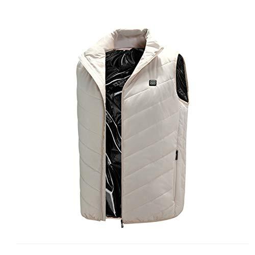 Elektrische Heizung Unterhemd für Männer/Frauen, einstellbare Temperatur, leichte und waschbar, Outdoor-Sporturlaub White