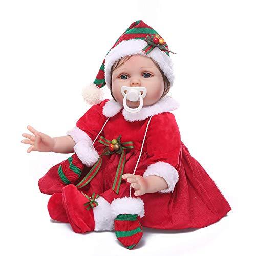 NMQQ Lebensechte Reborn Puppen Baby Weich Silikon Vinyl Kind Playmate Real Life Ausbildung Requisiten Neugeborenes Baby Spielzeug 55Cm