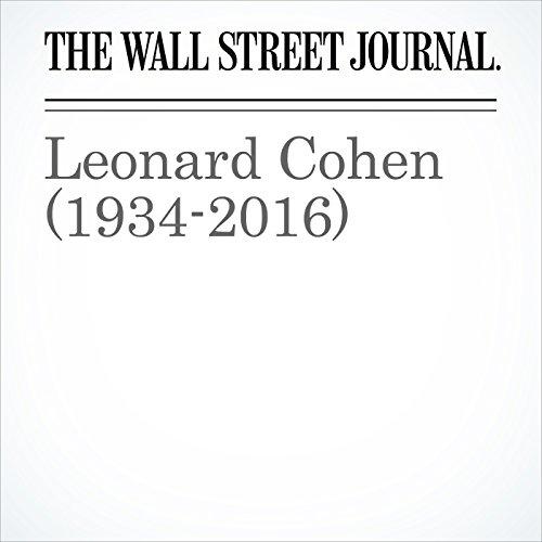 Leonard Cohen (1934-2016) cover art