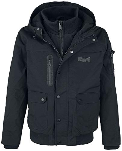 Lonsdale London Herren HILLBRAE Men Winterjacket, Black, S