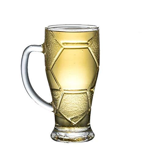 Bier Bril Bier Mokken Glas Bier Proeven Bier Zwart Bier Voetbal Bar Drink Sap Transparante Handvat Wijn Keuken 400Ml 400 Ml