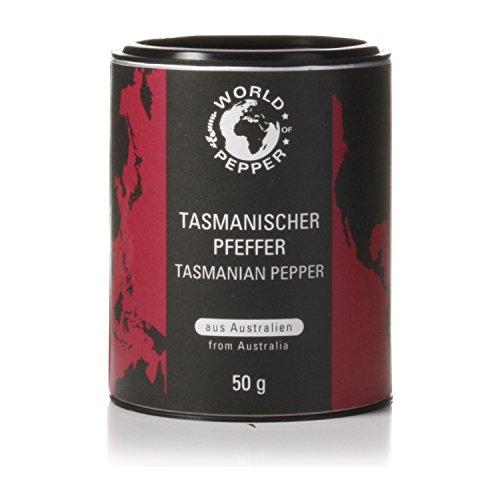 Tasmanischer Pfeffer - World of Pepper - 50g - einzigartiger australischer Bergpfeffer - Premium Qualität mit Zufriedenheitsgarantie
