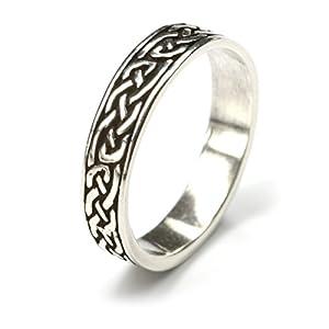 Drachensilber keltischer Ring 925 Silber Bandring Herrenring Damenring Silberring Ringschiene 5mm Gr 70