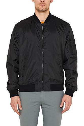 ESPRIT Herren 039Ee2G004 Jacke, Schwarz (Black 001), Large (Herstellergröße: L)